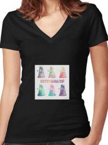 Doctor Who Dalek  Women's Fitted V-Neck T-Shirt