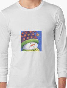 Cute Christmas snowman  Long Sleeve T-Shirt