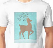 Christmas reindeer with baubles Unisex T-Shirt