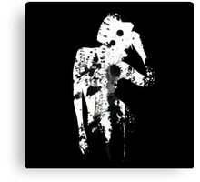 INK SILHOUETTE GIRL Canvas Print