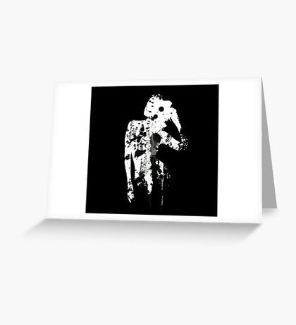 INK SILHOUETTE GIRL Greeting Card