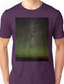 Northern Lights and Milky Way, Perthshire Scotland Unisex T-Shirt