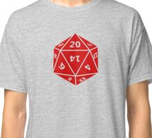 D20 Polyhedral Dice: 20-sided Classic T-Shirt