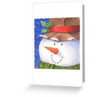 Cute country snowman Greeting Card