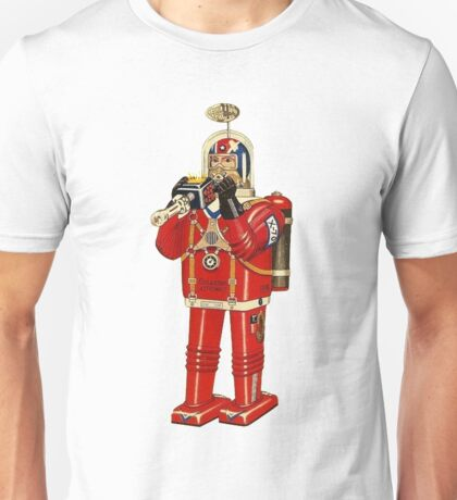 Retrofuturistic Astro-man Toy Unisex T-Shirt