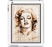 old book drawing marilyn monroe iPad Case/Skin