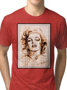old book drawing marilyn monroe Tri-blend T-Shirt