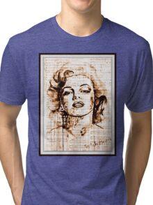 old book drawing marilyn monroe Tri-blend T-Shirt