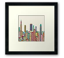new york living Framed Print