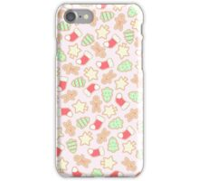 Christmas Cookies Pattern Design (Pink) iPhone Case/Skin