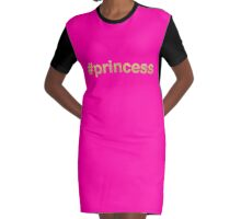 Pink and gold Princess Graphic T-Shirt Dress
