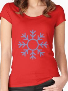 Blue Snowflake Ornament Women's Fitted Scoop T-Shirt