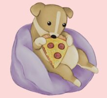 Pizza Puppy Baby Tee
