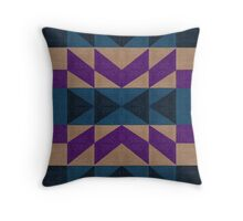 Aztec Pattern - Purple, Blue, Black and Brown Throw Pillow
