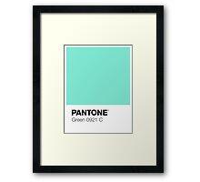 Pantone - Green Framed Print