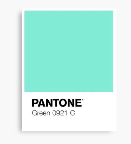 Pantone - Green Canvas Print