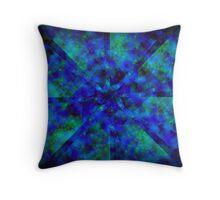 Blue Kaleidoscope Throw Pillow