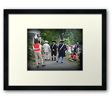 A Historic Day To Celebrate Framed Print
