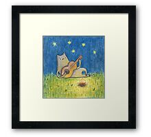Campfire Cat Framed Print