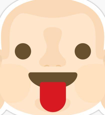 Buddha Emoji Tongue Out Sticker