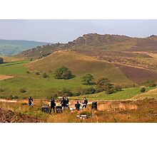 Pop group among the Roaches Photographic Print