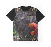 Jesus In Wire And Flowers -01 Graphic T-Shirt