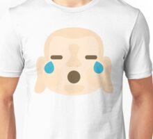 Buddha Emoji Teary Eyes and Sad Look Unisex T-Shirt
