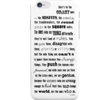 Misfits and rebels quote iPhone Case/Skin