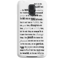 Misfits and rebels quote Samsung Galaxy Case/Skin