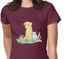 Animal Friends Womens Fitted T-Shirt