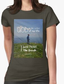 I just hold the brush Womens Fitted T-Shirt