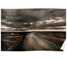 Stormy Weather on a Lonely Country Road Poster