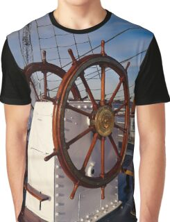 Ship steering wheel, Gorch Fock Graphic T-Shirt