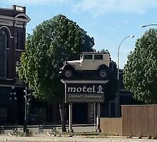Al Capone's car at the Motel where he stayed during prohibition - Moose Jaw Saskatchewan- PILLOW AND TOTE BAG...ECT.. by ╰⊰✿ℒᵒᶹᵉ Bonita✿⊱╮ Lalonde✿⊱╮