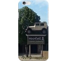 Al Capone's car at the Motel where he stayed during prohibition - Moose Jaw Saskatchewan- PILLOW AND TOTE BAG...ECT.. iPhone Case/Skin