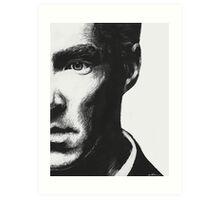 Benedict Cumberbatch - Scratch Board Portrait Art Print