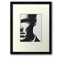 Benedict Cumberbatch - Scratch Board Portrait Framed Print