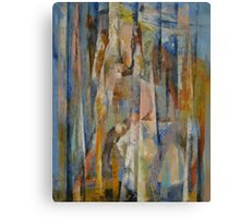 Wild Horses Abstract Canvas Print