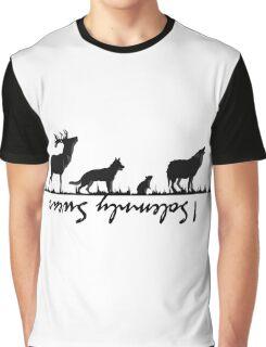 """I Solemnly Swear"" B&W Graphic T-Shirt"