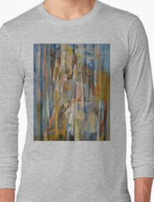 Wild Horses Abstract Long Sleeve T-Shirt