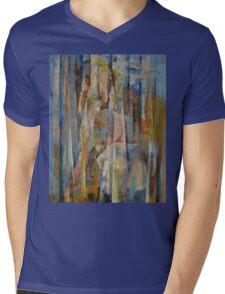 Wild Horses Abstract Mens V-Neck T-Shirt