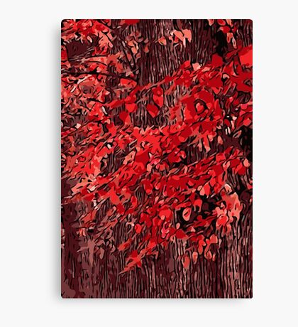 Red branches Canvas Print