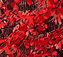 Red branches Sticker