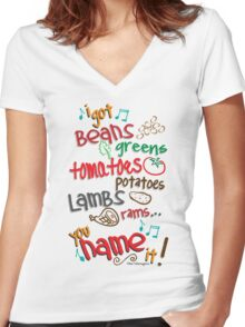 You Name It Women's Fitted V-Neck T-Shirt