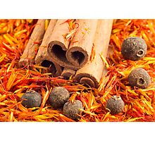 Kitchen spices and herbs close-up Photographic Print