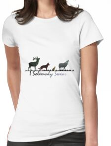 """""""I Solemnly Swear"""" Colour Womens Fitted T-Shirt"""
