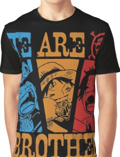 We Are Brothers - Portgas D Ace, Monkey D Luffy, Sabo One Piece Graphic T-Shirt
