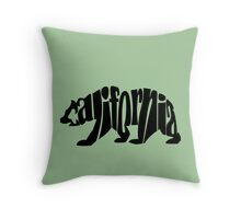 black california bear Throw Pillow