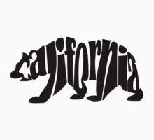 black california bear Kids Clothes