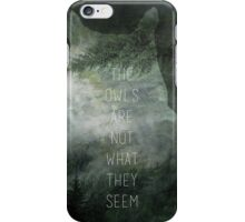 Twin Peaks minmalist movie poster iPhone Case/Skin